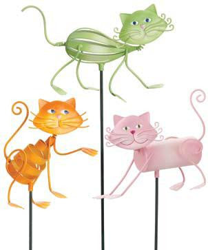 Georgetown Cat Garden Stakes New Colors Set of three
