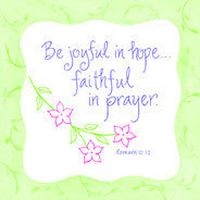 Be Joyful in Hope Magnet