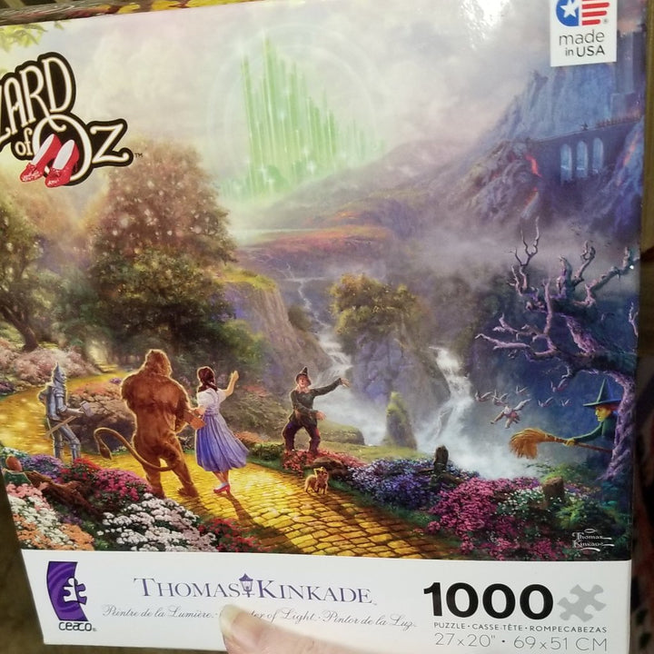 1000 puzzle Thomas Kincade Wizard of Oz