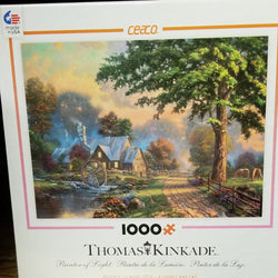 1000 pc Thomas Kincade, Painter of Light Puzzle- Simpler Times II