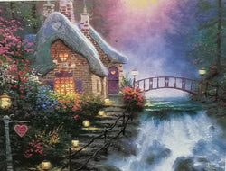 1000 pc Thomas Kincade Painter of Light- Sweetheart Cottage II