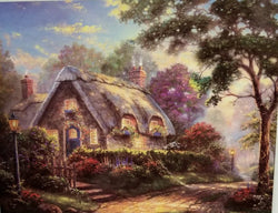 1000 pc Thomas Kincade Painter of Light Puzzle-Lovelight Cottage