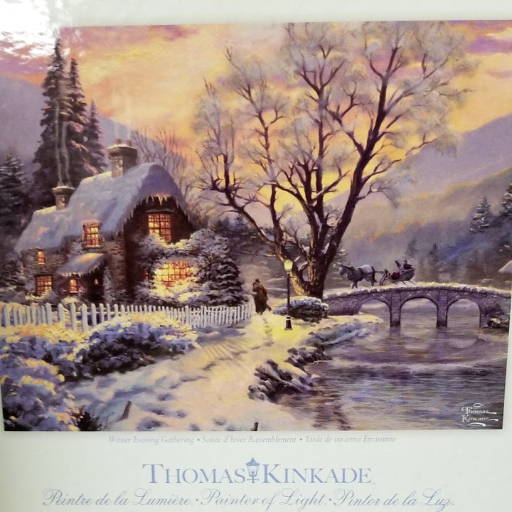 1000 pc Thomas Kincade Painter of Light Puzzle-Winter Evening Gathering