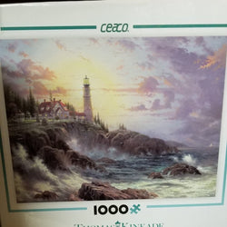 1000 pc Thomas Kincade Painter of Light-Clearing Storms