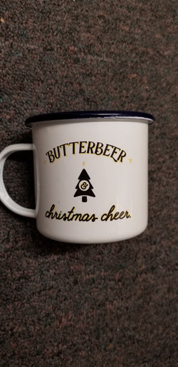 Butterbeer and Christmas Cheer Harry Potter Blue Christmas Mug-16oz