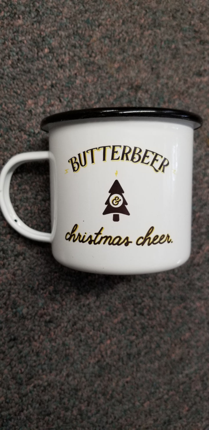 Butterbeer and Christmas Cheer Harry Potter Black Christmas Mug-16oz