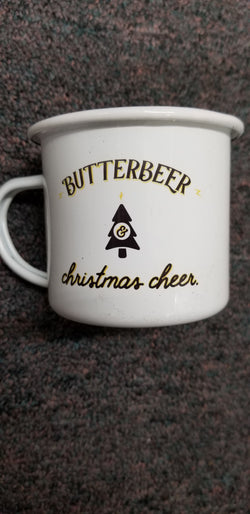 Butterbeer and Christmas Cheer Harry Potter Black Christmas Mug-12oz