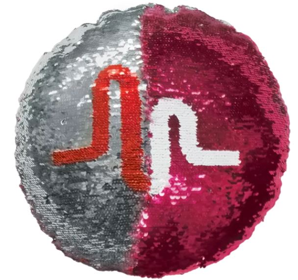 Musical.LY Reversible Sequin Pillow with Fleece Back