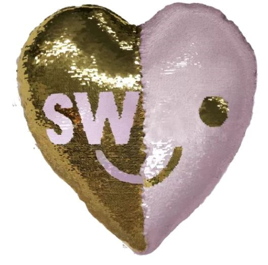 Iscream Swak/Love Reversible Sequin Pillow
