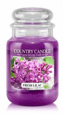 23oz Country Classics Large Jar Kringle Candle: Fresh Lilac
