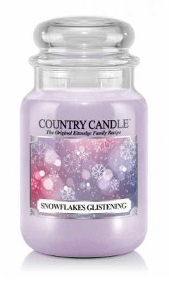 23oz Country Classics Large Jar Kringle Candle: Snowflakes Glistening
