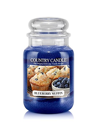 23oz Country Classics Large Jar Kringle Candle: Blueberry Muffin