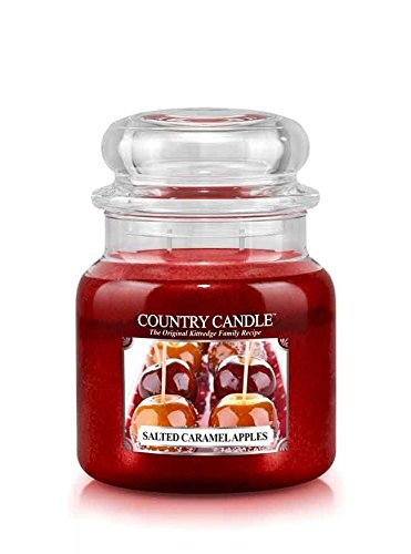 16oz Country Classics Medium Jar Kringle Candle: Salted Caramel Apples