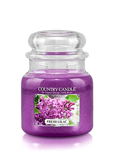 16oz Country Classics Medium Jar Kringle Candle: Fresh Lilac