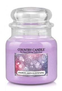 16oz Country Classics Medium Jar Kringle Candle: Snowflakes Glistening