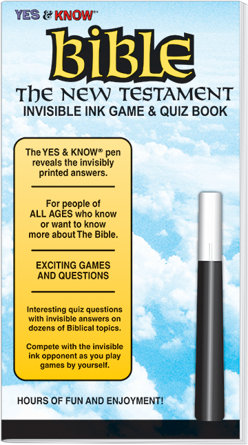 Bible New Testament Invisible Ink Game & Quiz Book