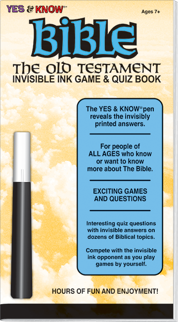 Bible Old Testament Invisible Ink Game & Quiz Book