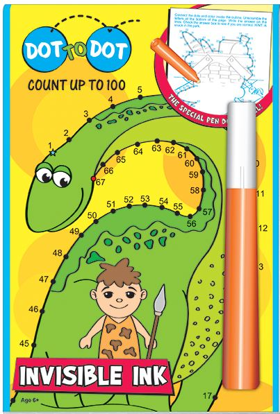 Count up to 100 Dinosaurs Invisible Ink Book