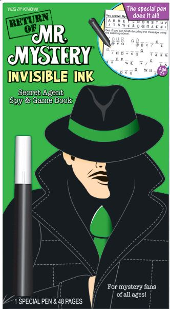 Return of Mr Mystery Invisible Ink Book