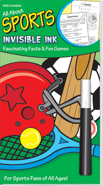 All About Sports Invisible Ink Fascinating Facts & Fun Games