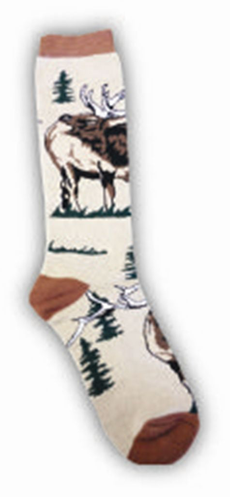 Elk in the Trees Adult Socks- Medium