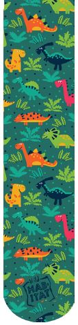 Wild Habitat Sublimation Kids Socks- Dinosaurs