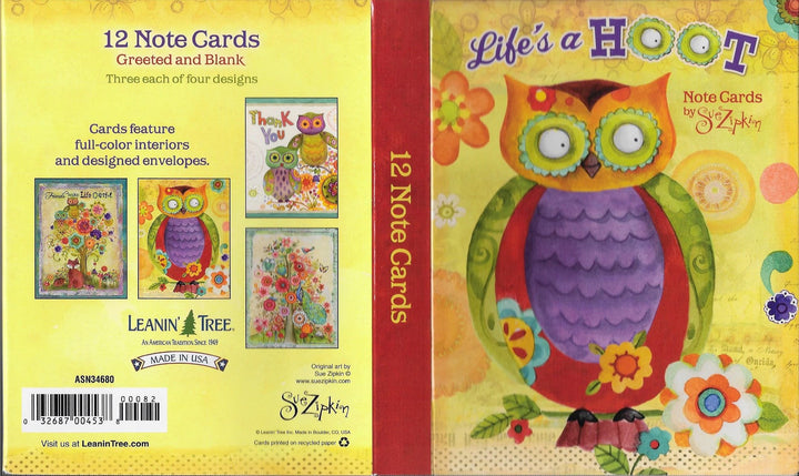 Life's a Hoot Notecards by Sue Zipkin