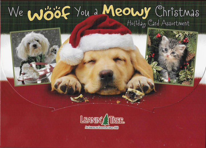 We Woof You a Meowy Christmas Christmas Card Assortment