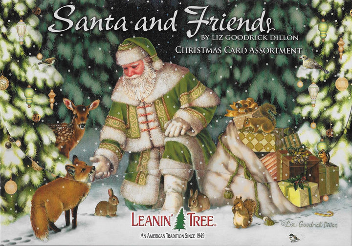 Leanin Tree Christmas Cards.Leanin Tree Santa And Friends Christmas Card Assortment 90279