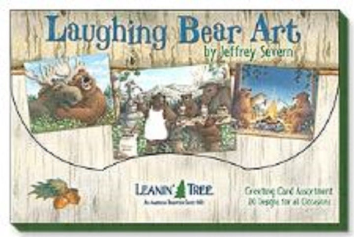 Leanin Tree Laughing Bear Art Greeting Cards Assortment #90760