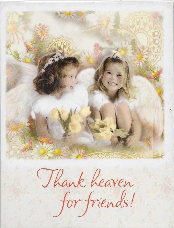 Thank heaven for friends 8 blank notecards and envelopes