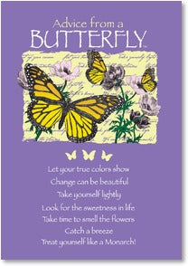 Advice from a Butterfly Blank Note cards with Envelopes