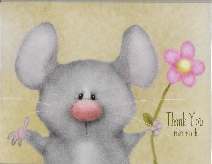 Thank You this much! 8 Blank Notecards and Envelopes