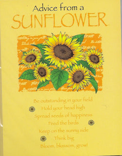 Advice from a Sunflower 8 Blank Notecards and Envelopes