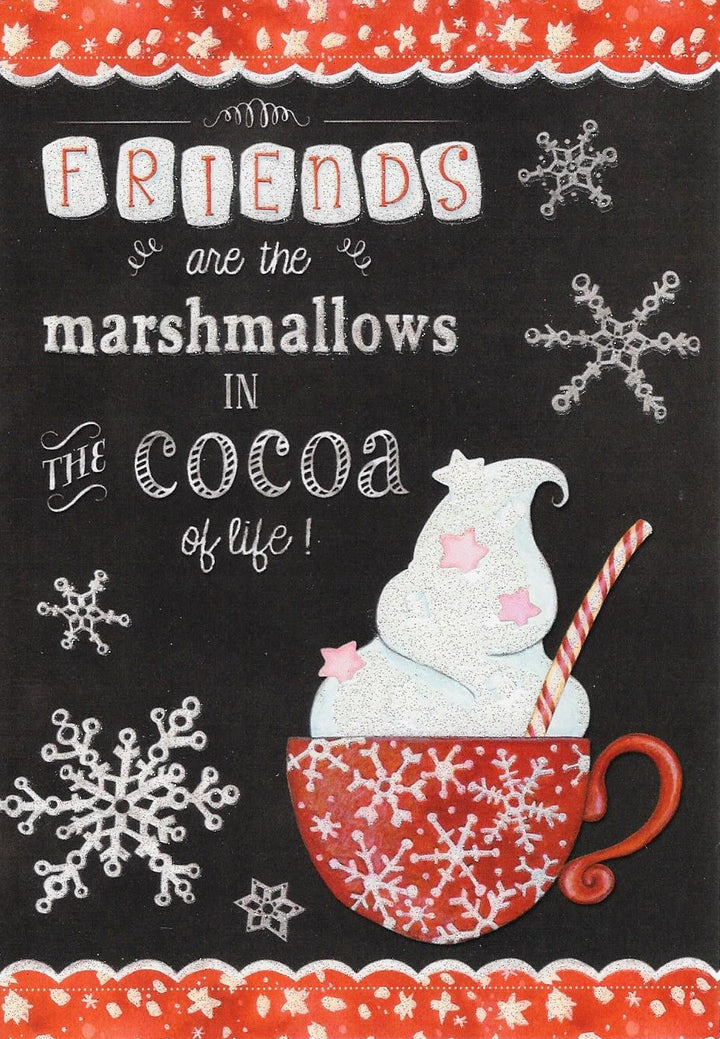 Friends are the Marshmallows in the Cocoa of Life Boxed Christmas Cards #73749