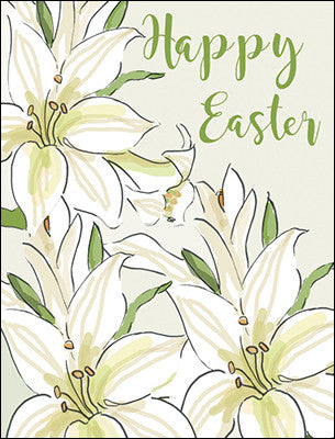 Happy Easter Easter Lilies- 8 Easter Cards