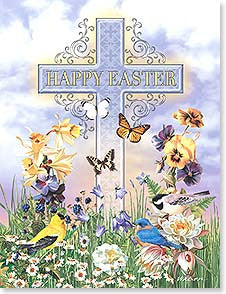 Happy Easter Cross- 8 Easter Cards