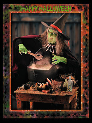 Happy Halloween Witch Brew Greeting Card, Set Of 4