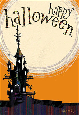 Happy Halloween Haunted House Greeting Card, Set of 4