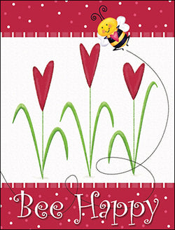 Bee Happy Valentine's Day Card Set-Front