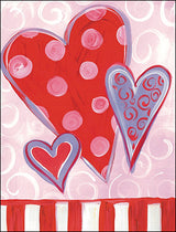 Hearts Valentine's Day Card Set-Front