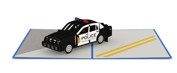 Lovepop Police Car Pop Up Greeting Card
