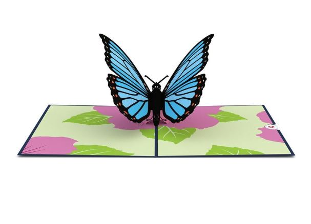 Lovepop Blue Morpho Butterfly Pop Up Greeting Card