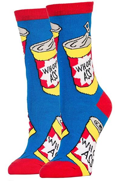 Can of Whoop A-- Women's Crew Socks