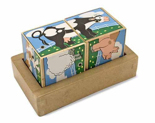 Melissa and Doug Farm Sound Blocks-Sound Puzzles and blocks