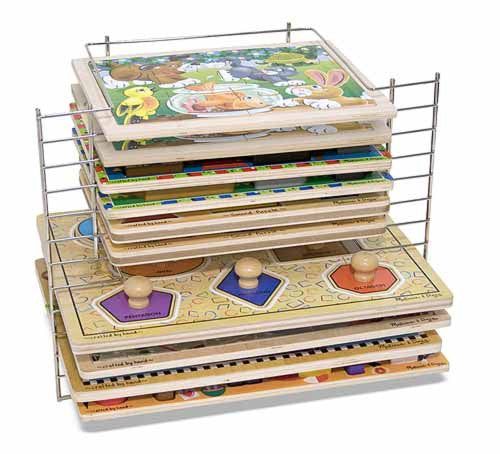 Melissa & Doug Deluxe Wire Puzzle Rack (Puzzles not Included)