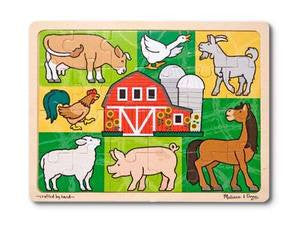 Melissa & Doug Patchwork Farm Animal Jigsaw Puzzle 24 pc.