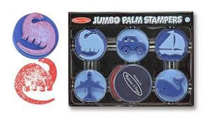 Melissa & Doug Jumbo Palm Stampers- Blue