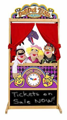 Melissa & Doug Deluxe Puppet Theater ( Puppets Sold Separately)
