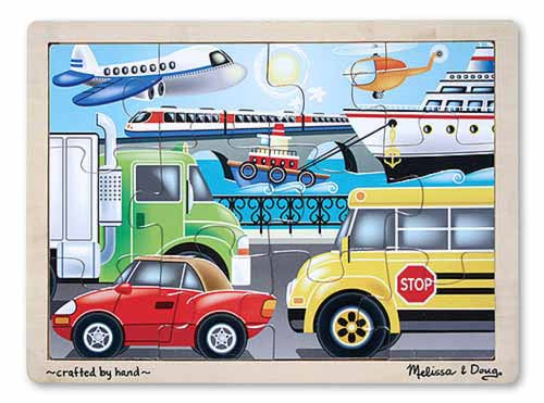12 pc On the Go Vehicles Jigsaw Puzzle